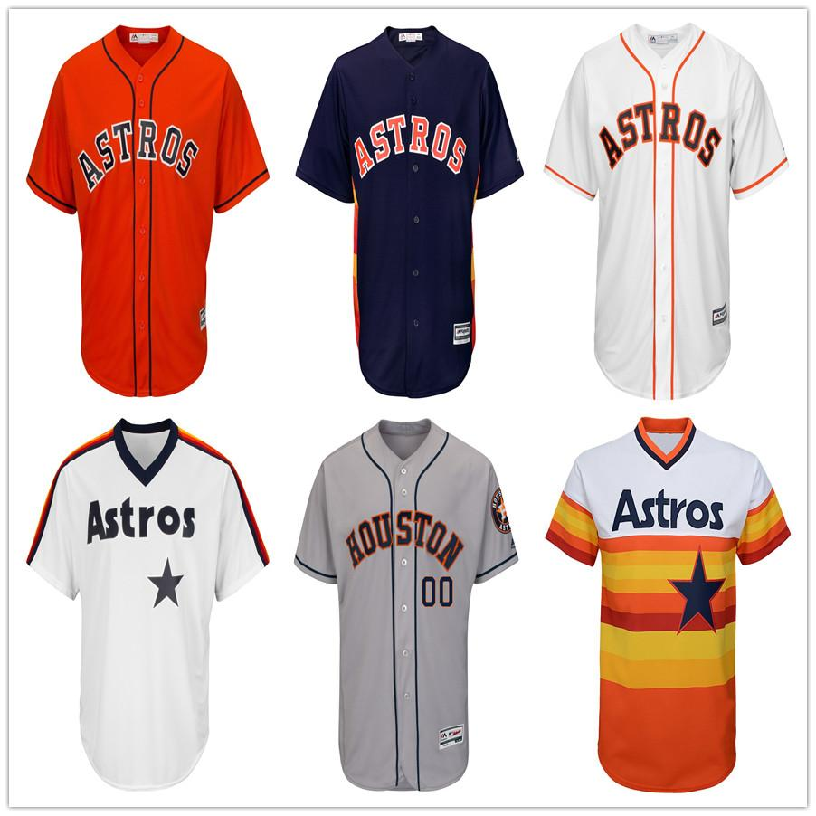 huge discount 6c7f6 53113 Mens George Springer Jersey Collection Houston Custom Astros Alex Bregman  High Quality Stitched Jose Altuve Retro Baseball Jerseys