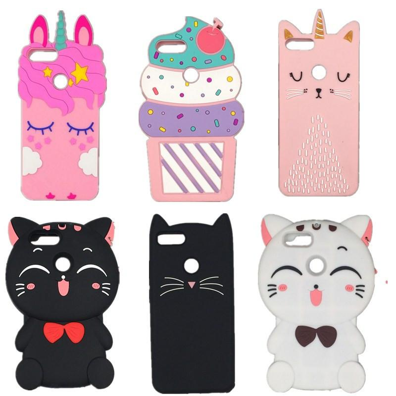 For Honor 9 Lite cute 3D Cartoon Eyelash Pink unicorn horse Luna Cat Soft Silicone Cover Case For Huawei Honor 9 Lite Phone case