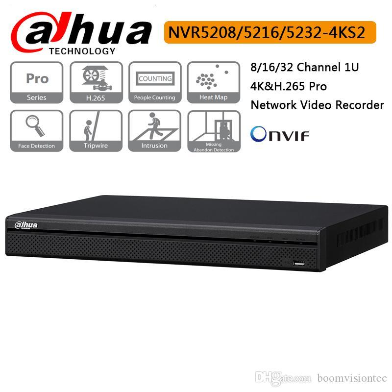 Dahua NVR NVR5216-4ks2 16 Channel 1U 4K&H 265 Pro Network Video Recorder  2019 Hot Sale with Dahua logo English Firmware