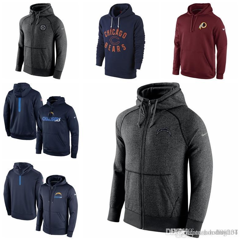 2019 WASHINGTON REDSKINS CHICAGO BEARS DIEGO CHARGERS PITTSBURGH STEELERS  BURGUNDY KO CHAIN FLEECE PULLOVER PERFORMANCE HOODIE From Hxxy88 5c15b67ab