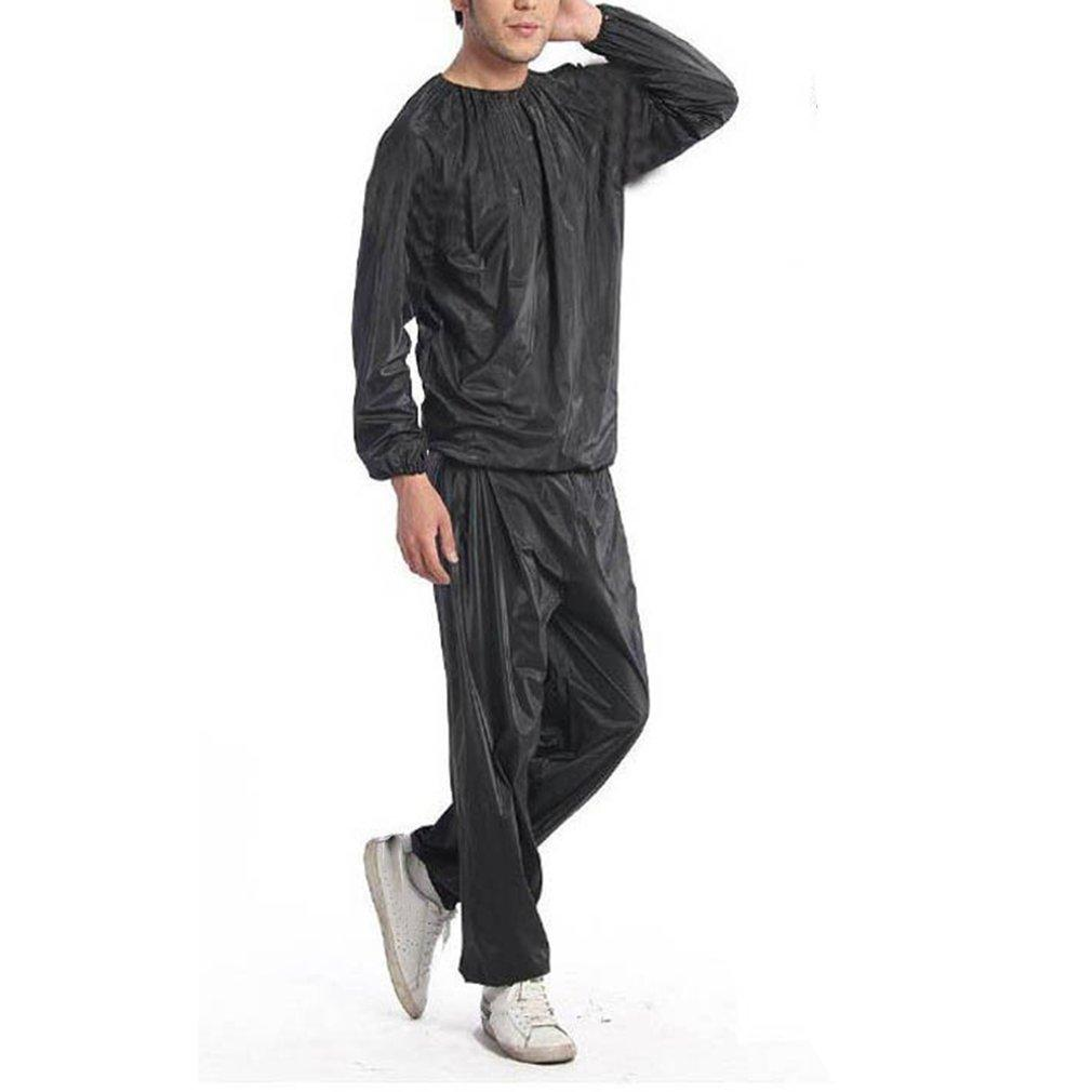 Heavy Duty Sweat Sauna Suit Anti Rip Training Fitness Weight Loss Slimming Clothes Solid Color Exercise Sport Gym Suit