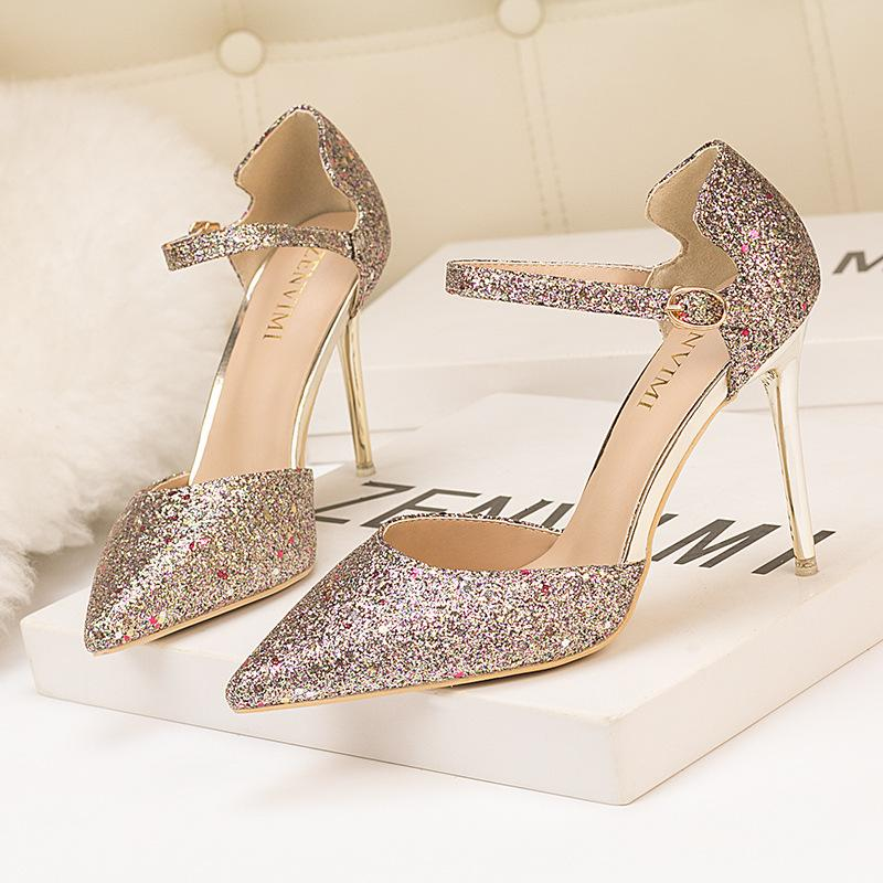 f384667cf Dress New Pumps Women Luxury Design Bling High Heels Party Shoes Ladies  Fashion Pointed Toe Sexy Stiletto Bridal Wedding Shoes Tennis Shoes Oxford  Shoes ...