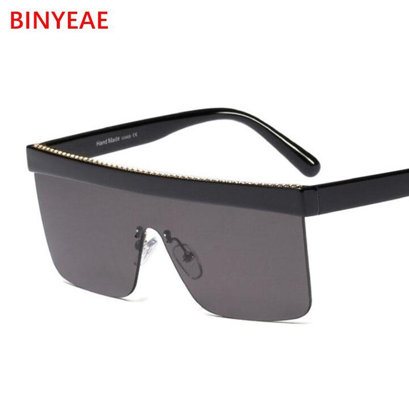 abab1f386f5f3 2019 Retro Brand Flat Top Square Sunglasses Women Fashion Mirror Glasses  Oversize Rimless Sun Glasses Male Christmas Gifts UV400 Sunglasses  Eyeglasses From ...