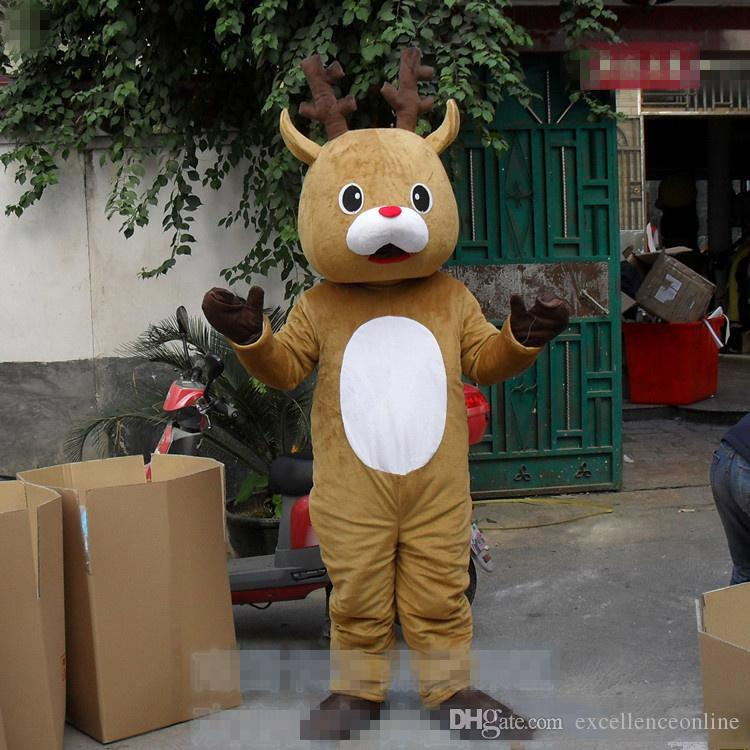 5913ae5d0 Adult Size Baby Deer Costume Brown Elk Mascot Birthday Party Fancy Dress  Kit Theme Fancy Dress Carniva Costume Eagle Mascot Costumes Mascot Uniform  From ...
