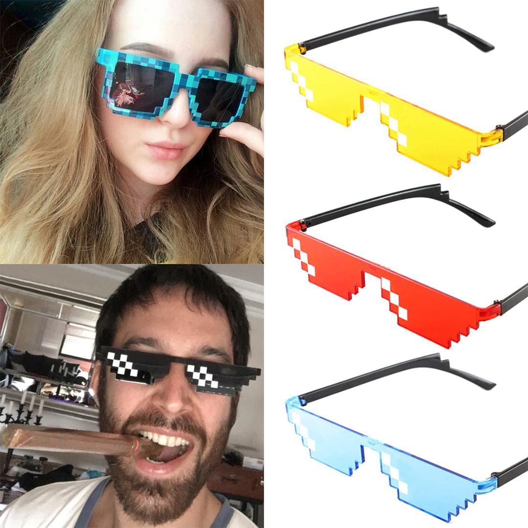 efe94f90e Compre Evrfelan Legal Mosaico Óculos De Sol Pixelizada Óculos De Sol  Mulheres Homens Marca Óculos De Festa Moda Óculos Unisex Oculos De Sara001,  ...