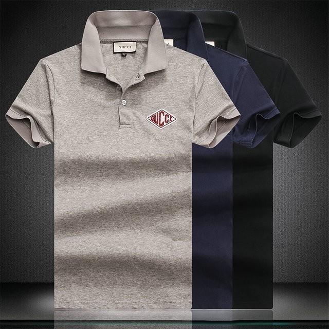 183316e9 Men's New T-shirt Cotton Comfortable Fashion Wild Lapel Half Sleeve ...