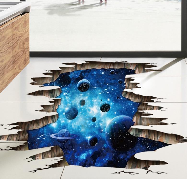 Grosshandel Neue 3d Kosmischen Raum Galaxy Boden Aufkleber Kinder