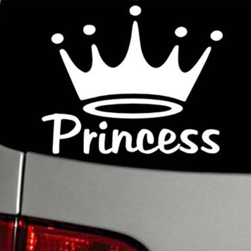 15*12.3cm Beauty Lovely Princess Crown Simple Vinyl Decal Car Decor Car Wall Window Sticker Modern Decal