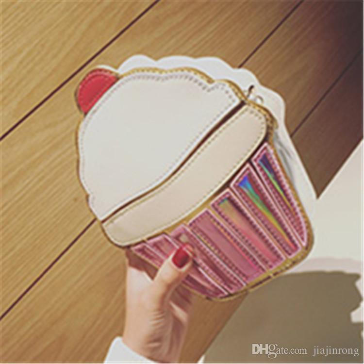 630a6553b7 2018 Creative Style Woman Hamburger Ice Cream Cupcake PU Chains Bags Cute  Cartoon Hamburger Popcorn Fries 3D Messenger Bags Crossbody Purses  Wholesale ...