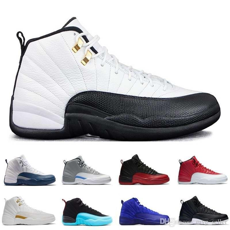 c1da98051449 High Quality 12 XII Men Basketball Shoes Bordeaux French Blue Gym Red Flu  Game Taxi Playoffs Wool Gamma Blue White Sneakers Sports Shoes Jordans  Running ...