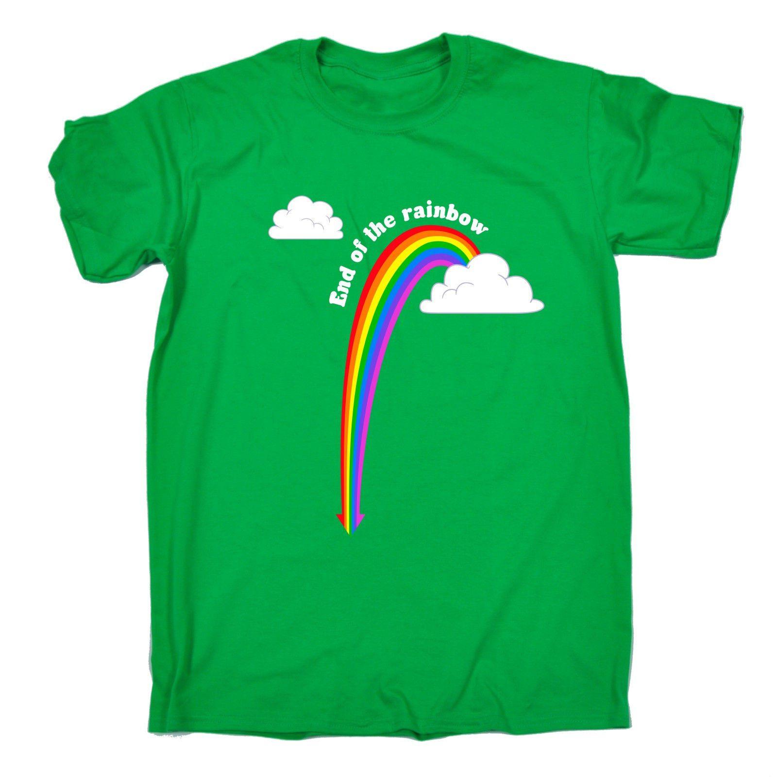 394dbffc6 End Of The Rainbow T SHIRT Tee Rude Funny Joke Offensive Birthday Fashion  Gift Men Women Unisex Fashion Tshirt Cool Tee Shirts Cheap Business Tee  Shirts ...