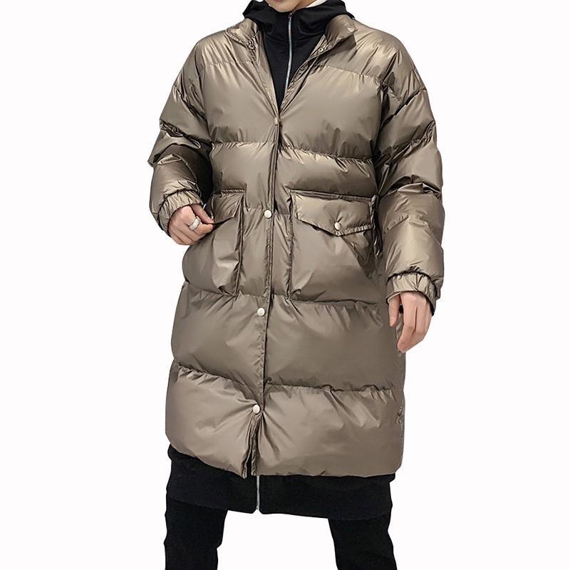 Designer Winterjas Heren.2019 Winter Men Parka Jacket Mid Long Coat Designer Jacket Coat Ropa