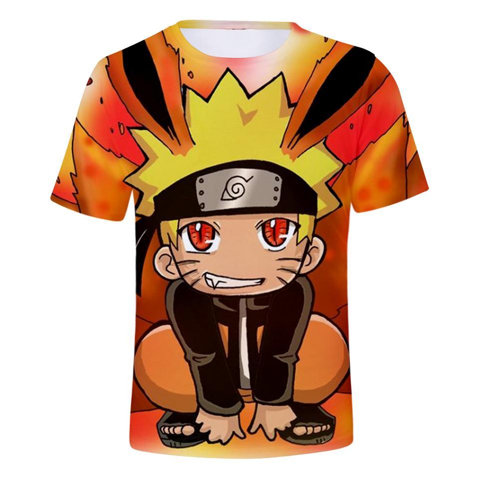 9d139ffeb Nueva moda Anime Naruto Sasuke Uchiha camiseta 3D impresión hombres / mujer  Unisex divertido verano cuello redondo manga corta Casual Tops K780