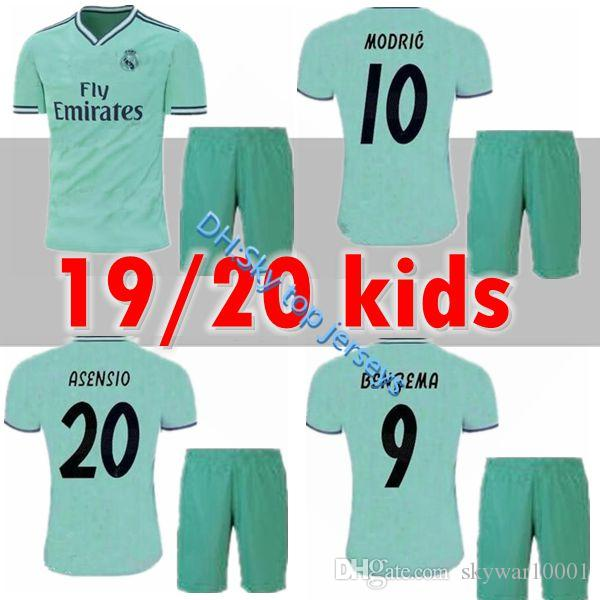 bdad05404 2019 2019 2020 New Real Madrid Kids Kit Soccer Jerseys 19 20 Home White  Away 3RD 4TH Boy Child Youth Modric ISCO BALE KROOS Football Shirts From  Skywar10001 ...