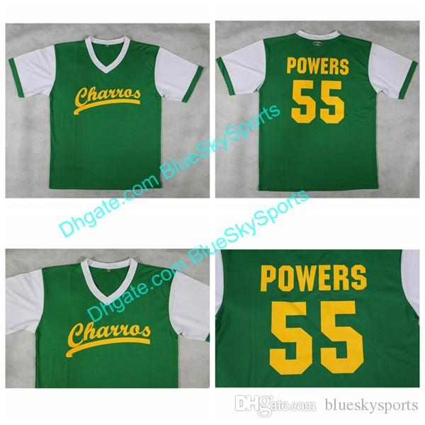 fa2f11d18 Men s 55 Kenny Powers Jersey Green Charros Eastbound And Down Tv ...