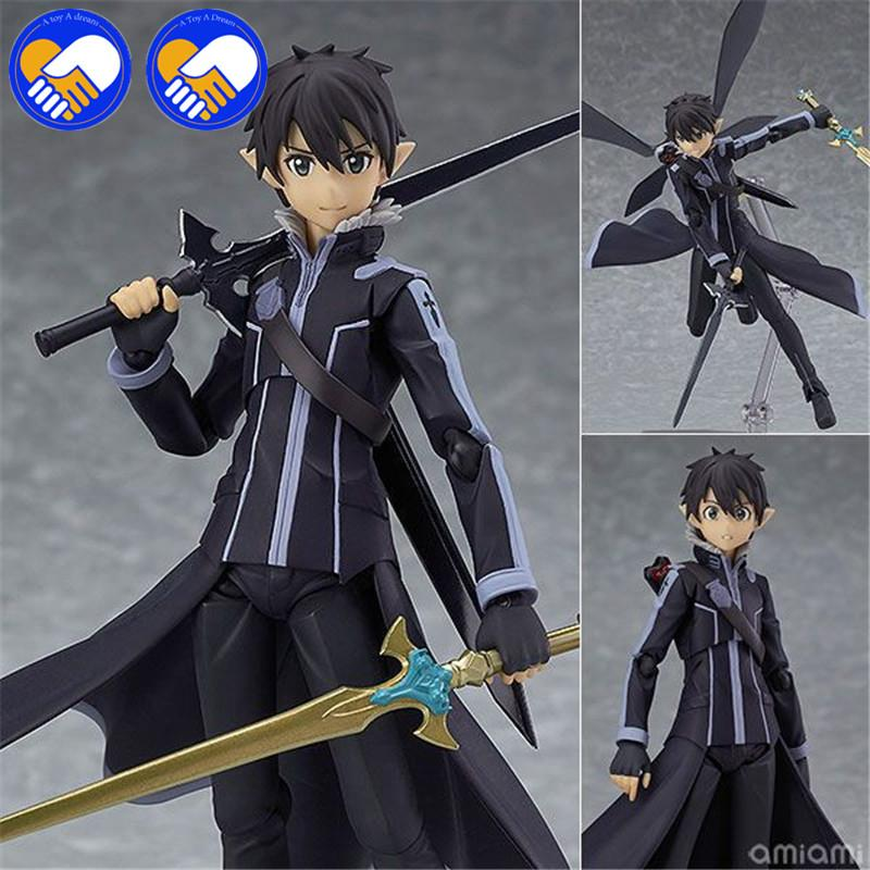 "A TOY A DREAM 6"" Sword Art Online II Fairy Dance Kirito Boxed 14cm PVC Action Figure Collection Model Doll Toy Figma Action Toys"