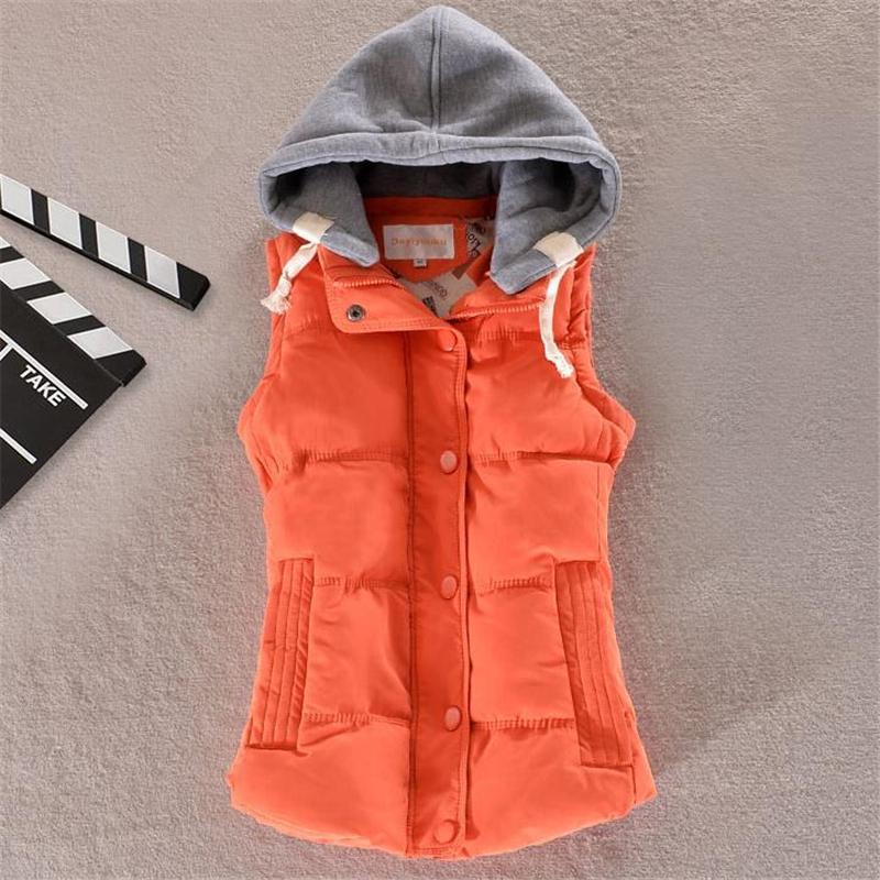 Woman Plus Size Warm Down Vests Female Oversized Thick Down Vest Women Removable Hooded Doudoune Abajo Waistcoat Parkas