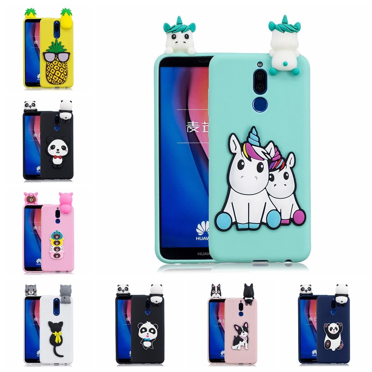 Pasted 3D Animal Case for Huawei Mate 10 Lite Head 6 TPU Cover Sticking a  Little Panda Doll 61 Models Option