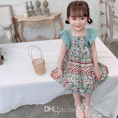 2019 Girls summer dress new style Korean princess dress cute baby girl dresses design clothes girl princess skirt Dresses baby kids clothes