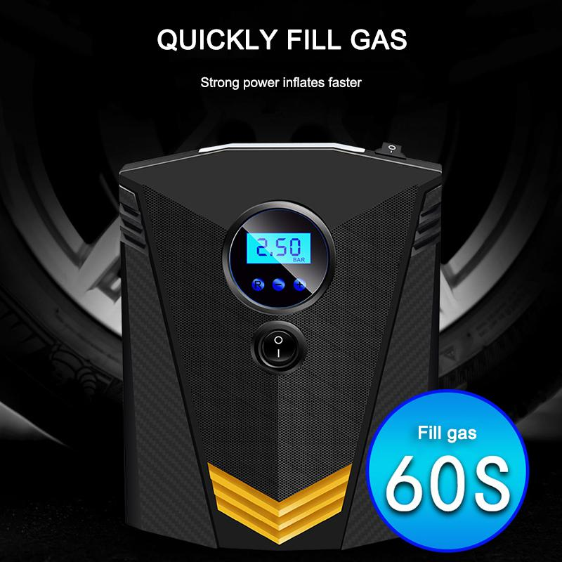 120W Car Portable Air Compressor Pump Digital Tire Inflator 150 PSI Auto Air Pump for Car Motorcycle LED Light Tire