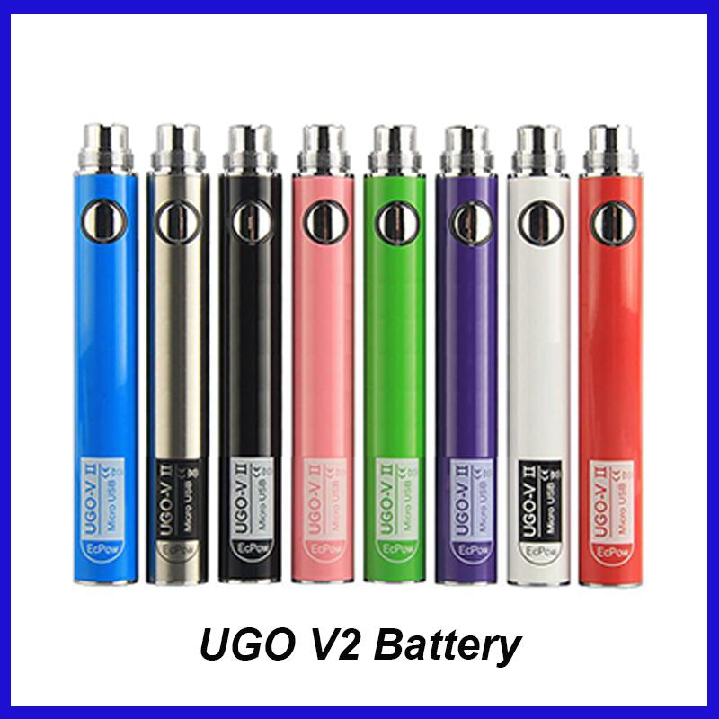 Authentische UGO V II V2 650 900mAh EVOD Ego 510 Akku 8colors Micro-USB-Lade Pass-Through vape Batterien 100% Oringinal Kostenloser Versand