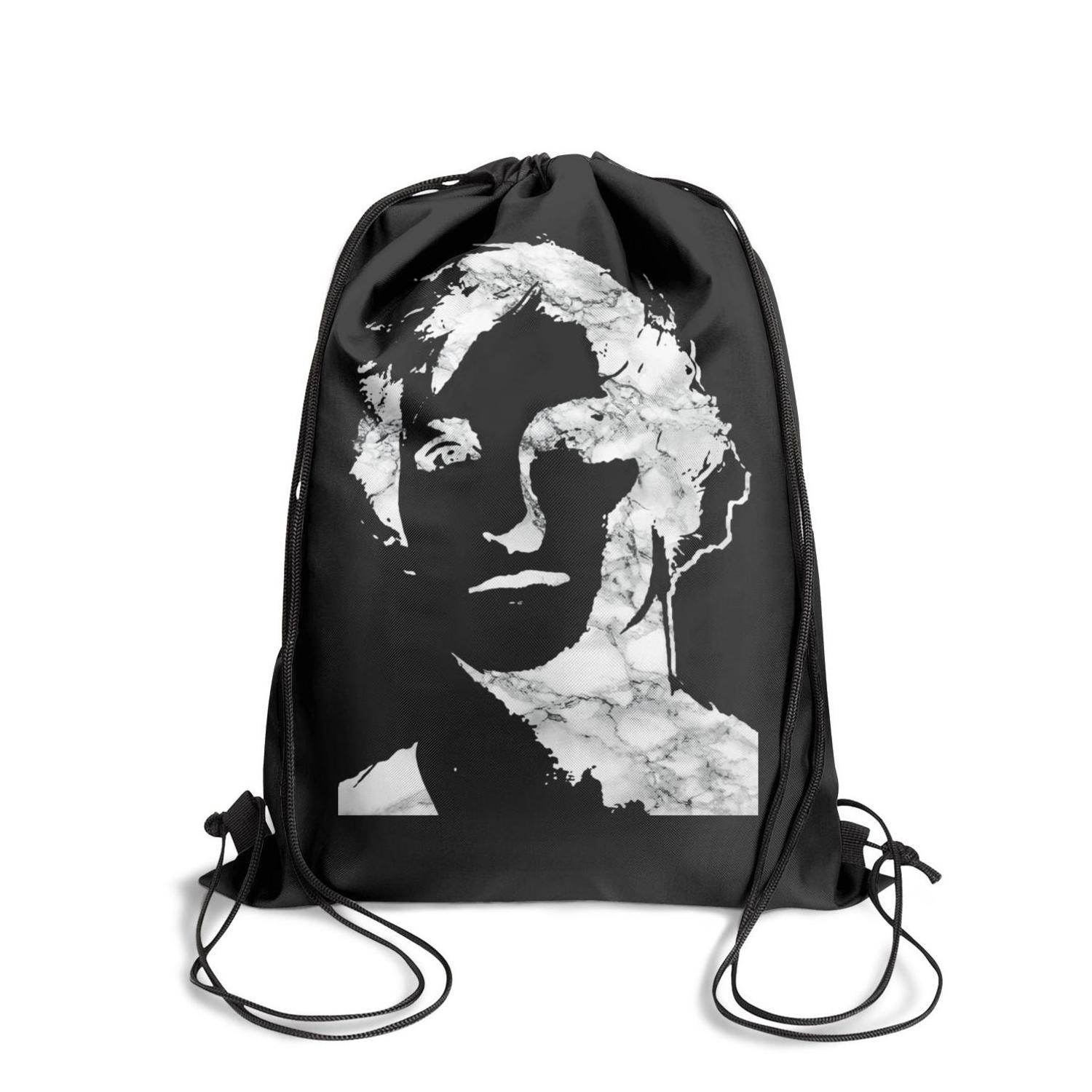 Drawstring Sports Backpack Logan Paul Online video White marbleoutdoor adjustable school Travel Fabric Backpack
