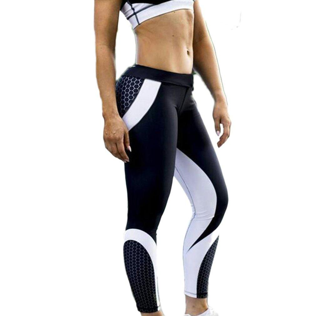 Women Geometric Digital Printing Yoga Pants High Waist Fitness Pants 7009 Quick-drying Body-building Underwear