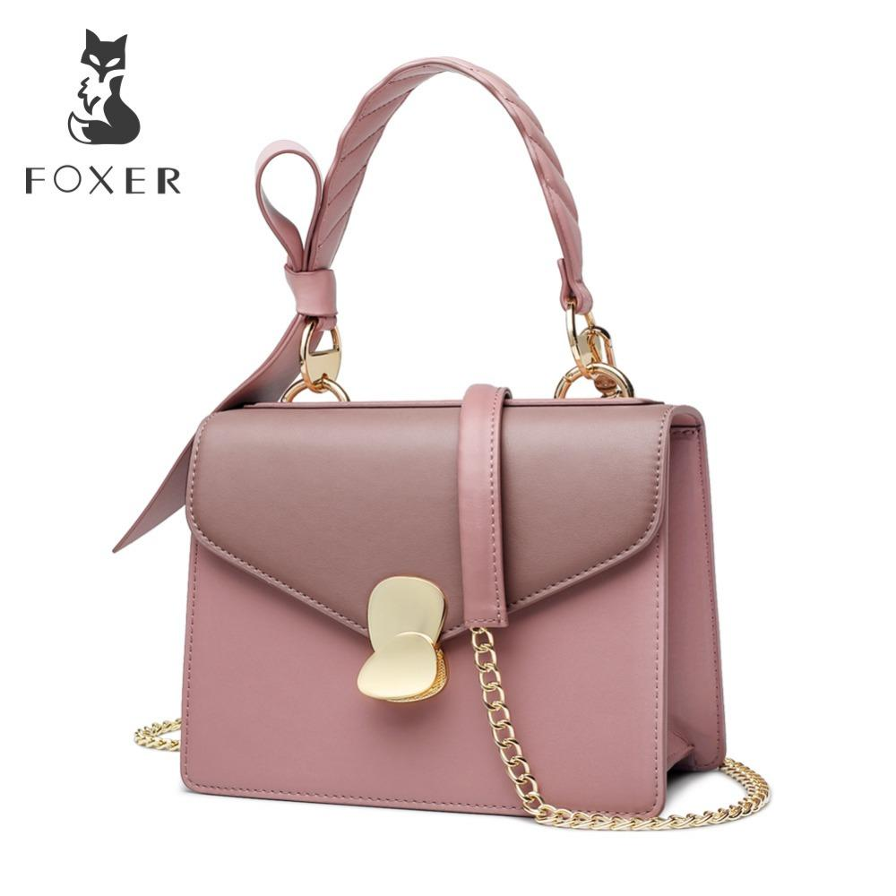 FOXER Brand 2019 New Female Korean Style Leather Shoulder Bags Women ... d3a2d71c0047c