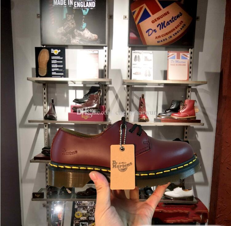 DrMartenss Pour Qualité Botte Bottes Véritable 1461 En Bottes De Hommes De 1461 Neige Vintage Casual Femmes Hommes Martin 2019 Haute Cuir Chaussures sQdtrhC