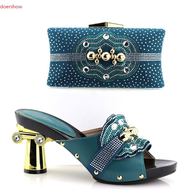 Doershow African Matching Shoes And Bags Italian In Women Nigerian Party  Shoe And Bag Sets Women Shoes And Bag Set Italy!HV1 8 Vegan Shoes Cheap  Heels From ... edcf30c3cab1