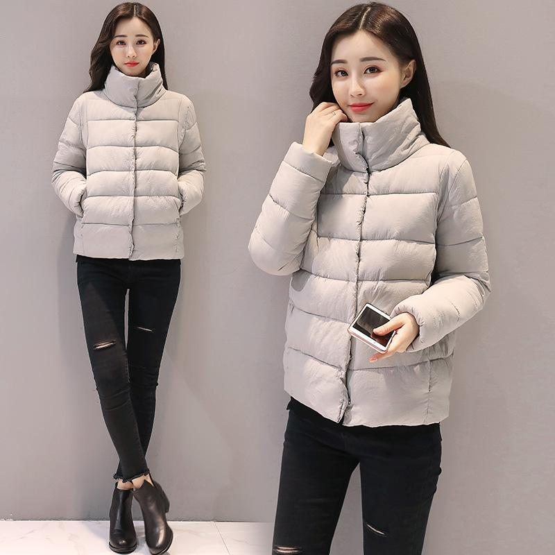 dc64aac3c8d Women Coat Winter Stand Collar Warm Parka Casual Thicker Short Jacket Plus  Size Cotton Down Clothes 2019 Korean Clothing QH473