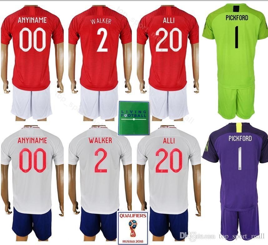 check out 60905 7bd3f Men Soccer 2 Kyle Walker Jersey Set 2018 World Cup 10 Raheem Sterling 20  Dele Alli Football Shirt Kits Uniform Custom Name Number