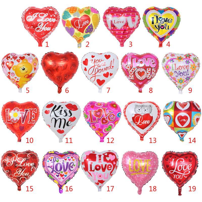 Compre Decoraciones Para El Día De San Valentín Globo Te Amo Imprimir Globos  Juguetes Película De Aluminio Amor Corazón Globo Para Fiesta De Boda ... b11abf6312d