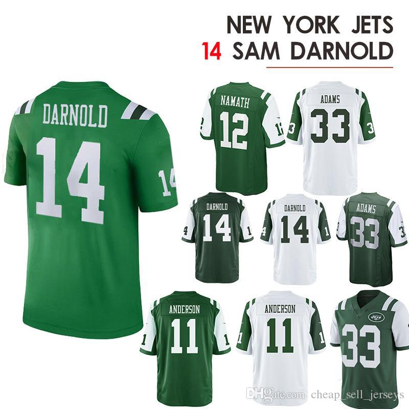 c0777c4f6f6 2019 14 Sam Darnold Jerseys Jets 12 Joe Namath 33 Jamal Adams 2019 Men  Jersey From Cheap_sell_jerseys, $23.26 | DHgate.Com