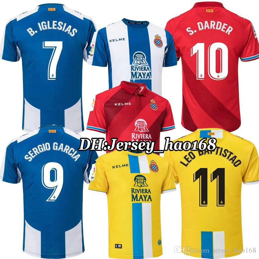 2019 18 19 RCD Espanyol Soccer Jerseys IGLESIAS SERGIO GARCIA  9 Futbol  Camisetas Real Club Deportivo Español Football Camiseta De Fútbol Kit From  ... 605ddace9