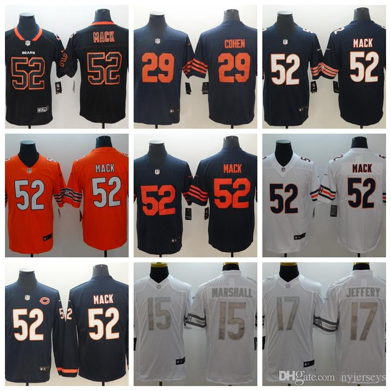 new style 73b23 18b45 52 Khalil Mack CHICAGO jerseys BEARS 10 Mitchell 39 EDDIE JACKSON 24 Howard  58 Roquan Smit 2019 new jersey Men s