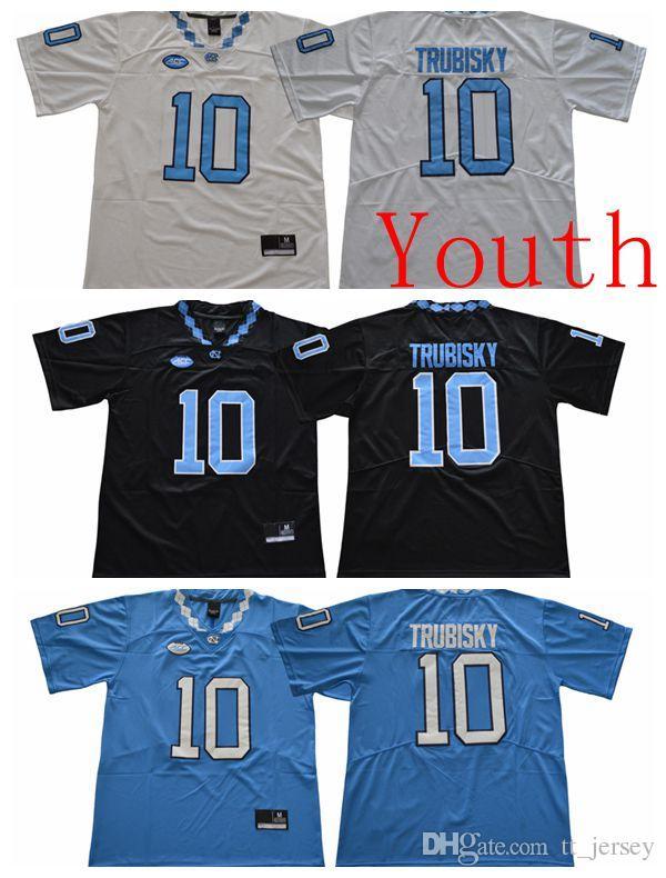 watch 9eef5 71043 NCAA Youth kids Jersey North Carolina Tar Heels 10 Mitchell Trubisky  College Football Jersey High Quality Customize