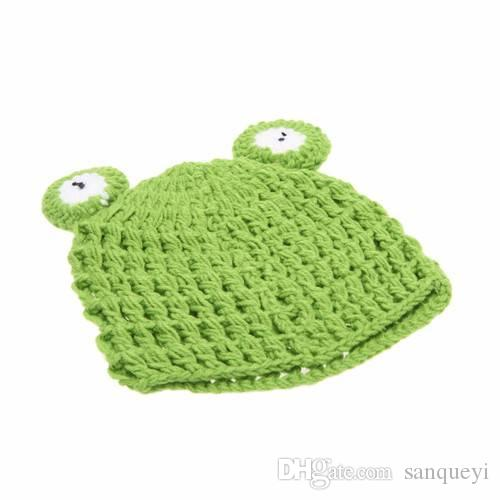 Baby Infant Frog Crochet Knitting Costume Hat Soft Adorable Clothes dress your baby as a cute baby frog.