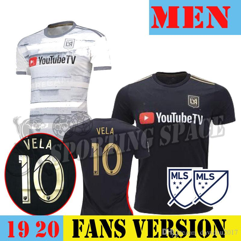 low priced 0e28a 07a8e 2019 LAFC soccer jersey Carlos Vela home away 19 20 men s MLS Los Angeles  FC ROSSI Horta BLESSING FEILHABER football shirts SIZE S-XXL