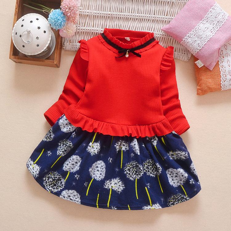 f04648331758 Good Quality 2019 Autumn Winter Girl Dress Fashion Long Sleeve Flower  Dresses Thicken Princess Toddler Casual Costume Kids Clothes UK 2019 From  Victorys06, ...