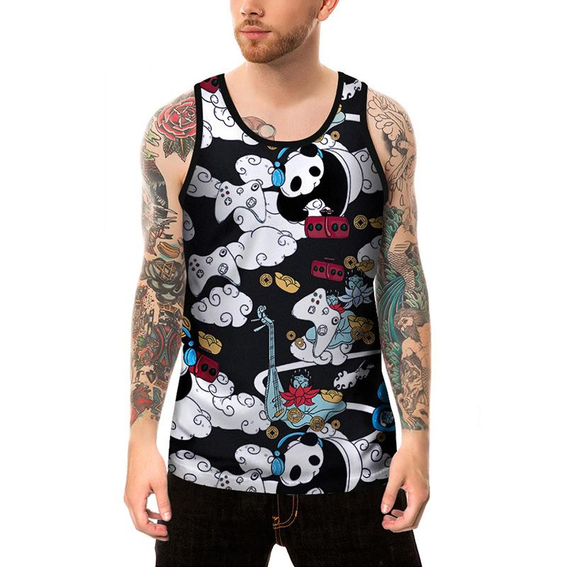 07b85ef24f0 2019 Summer New Male Creative Cartoon Printing Sleeveless Vest Loose Big  Fat Guy Leisure T Shirt Vest T Shirt Online with  15.57 Piece on Meimeiyi s  Store ...