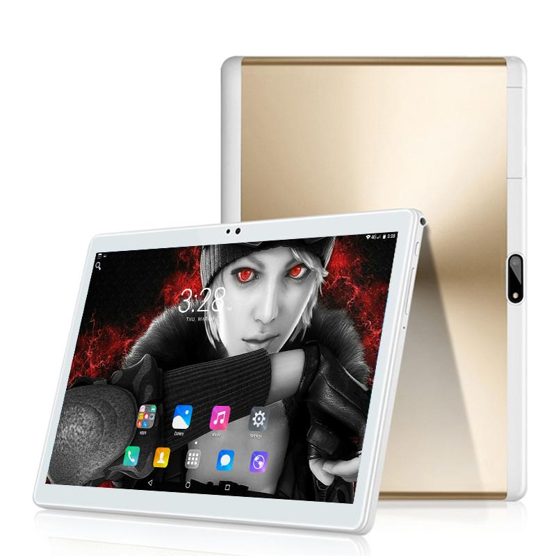 Envío gratis 10 pulgadas 4G LET Tablet PC Android 8.0 Octa core 6GB + 64GB 1280 * 800 IPS 2.5D Tabletas inteligentes de vidrio templado PCS 10 10.1