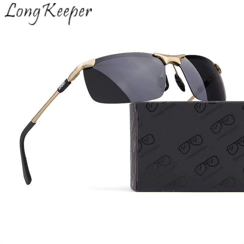 8c7f01c4d7 Long Keeper Sunglasses Polarized Men Women Sun Glasses Classic Retro Square  Metal Frame UV400 HD Lens Eyeglasses Eyewear Fashion Vuarnet Sunglasses  Bifocal ...