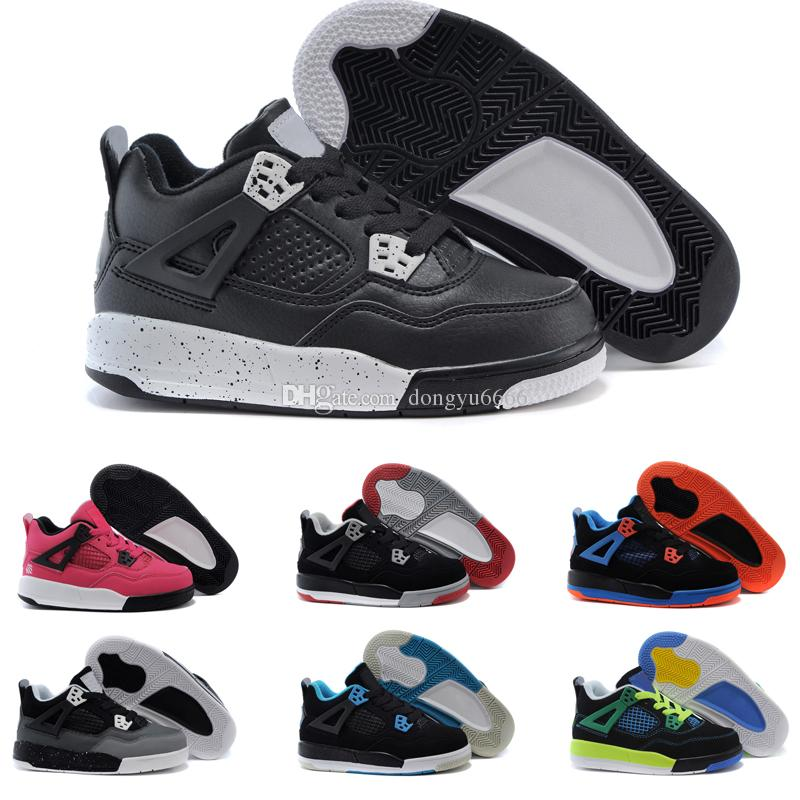 cheap for discount a9688 bcfa5 Großhandel Nike Air Jordan 4 13 Retro Jungen Mädchen 12 12s Gym Rot Hyper  Violett Lila Kinder Basketballschuhe Kinder Rosa Weiß Blau Dunkelgrau  Kleinkinder ...
