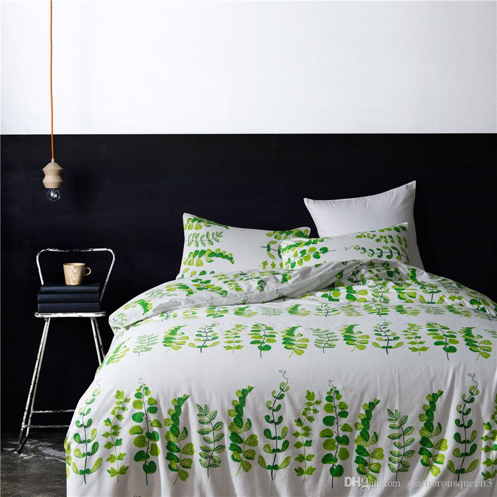 Floral Printed Luxury Retro Style Duvet Cover Set,100% Natural Cotton,Ultra Soft Breathable Comfortable Bedding Set-1 Duvet Cover and 2 Pill