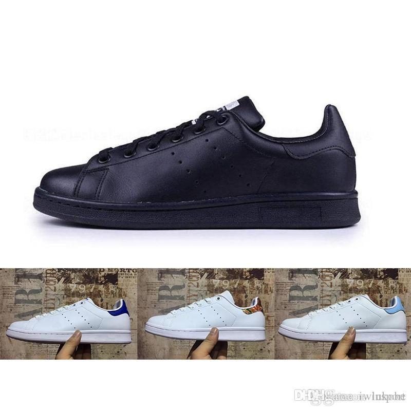 huge selection of 18a2a 90fff Acheter Adidas 2018Top Discount Chaussures Chaussures Hommes Nouveaux Stan Chaussures  Baskets Mode Casual En Cuir Sport Chaussures Baskets Pas Cher En Gros ...