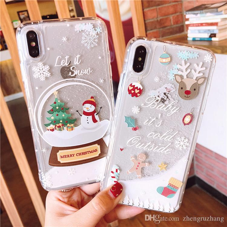 Specially Designed For Christmas It Is Suitable For Iphone8p X Xmax Xr The Phone Shell With Silicone Material Anti Fall