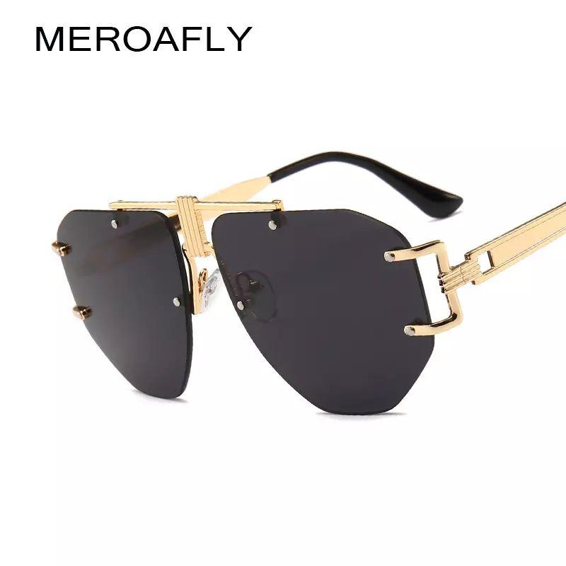 edd3a2512b5b MEROAFLY Oversized Men Sunglasses Men Luxury Brand Women Rimless Sun Glasses  Male Gafas De Sol Female Sunglasses For Women Online with  27.31 Piece on  ...