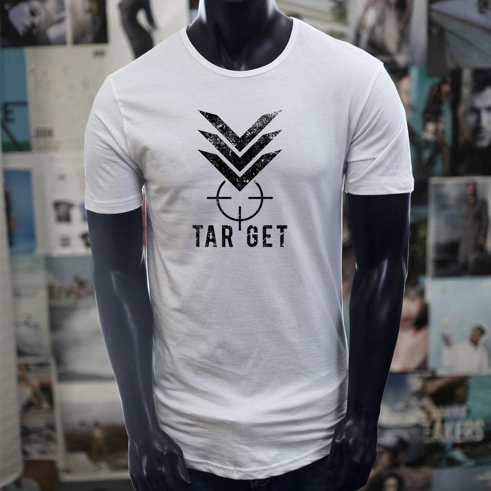 ac9324a3c0 TARGET MILITARY BULLSEYE HUNTER SHOOTING ARMY Mens White Extended Long T  Shirt 2018 Funny Tee Cute T Shirts Man 100% Cotton Cool Casual Interesting T  Shirt ...