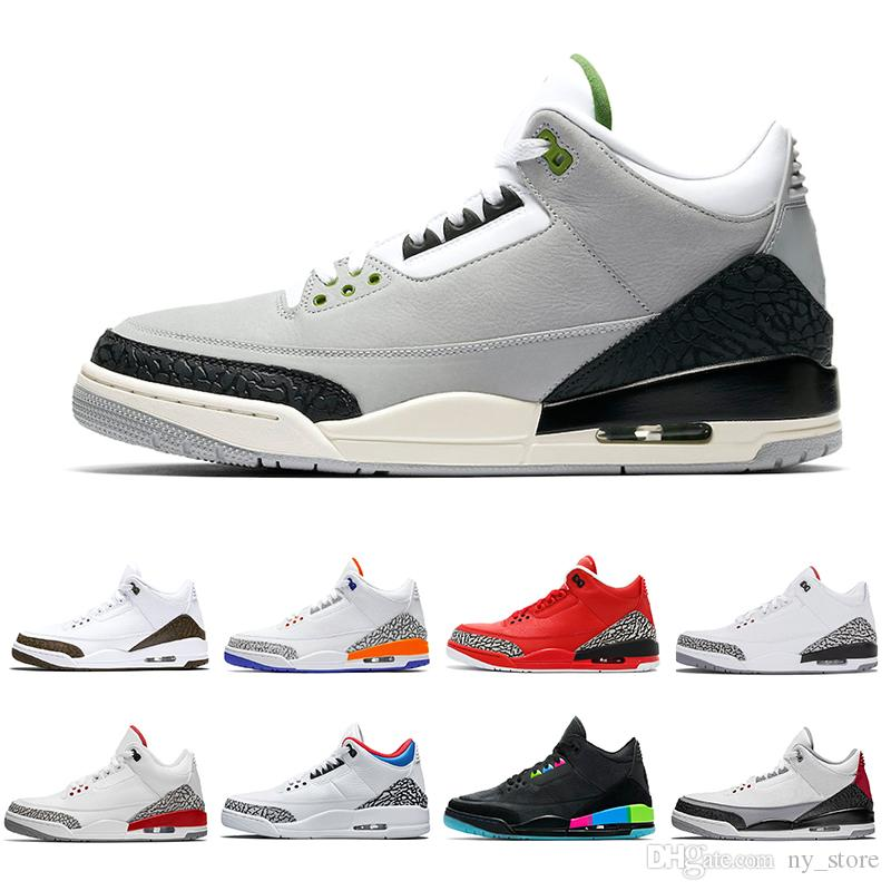 separation shoes fd124 2f7a5 Chlorophyll Mocha 3s Tinker 3 III Men Basketball Shoes Katrina Knicks  Rivals Free Throw Line Quai 54 WOLF Grey Sport Man Sports Sneakers Jordans  Sneakers ...